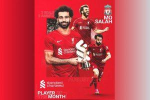 【英超】合乐运营足球:2球+2助,萨拉赫成为利物浦8月队内最佳